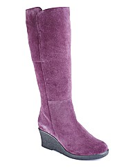 Legroom Suede Boots E Fit Standard