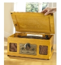 JDW Turntable CD Radio Cassette - Oak