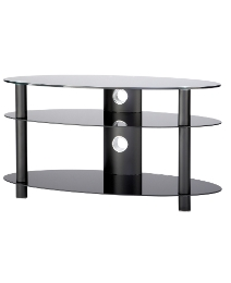 Black Oval TV Stand up to 47in