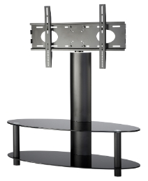 Black TV Stand + Bracket (up to 55in)