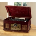 JDW Turntable CD Radio Cassette Mahogany