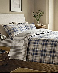 Tartan Brushed Cotton Duvet Cover Set