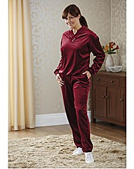 Velour Suit Two Piece