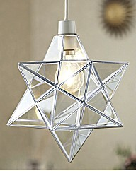 Star Pendant Lampshade 8 Inch