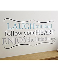 Words Wall Art Laugh Out Loud