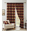Imperial Check Lined Curtain