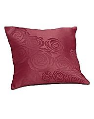 Rose Jacquard Filled Cushions Pair