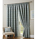 Isla Lined Embroidered Curtain