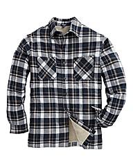 Sherpa Fleece Lined Check Shirt