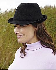 Wool Blend Trilby Hat