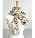 Faux Fur Ruched Scarf