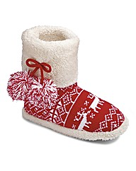 Sole Diva Slipper Boots E Fit