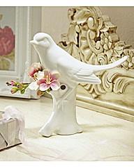 Porcelain Bird Flower Vase