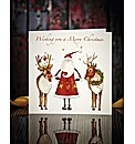 Personalised Christmas Cards Pack of 20