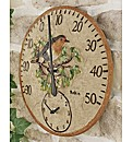 Robin Clock and Thermometer