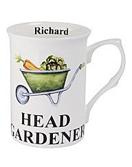 Head Gardener Mug Personalised