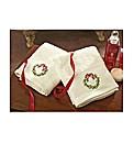 Christmas Wreath Hand Towel Pair