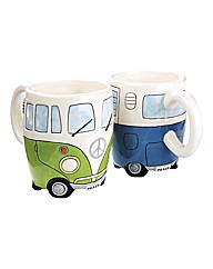 Campervan Mugs Set of 2