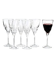 Royal Doulton Crystal Wine Glasses Set 6