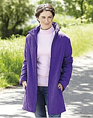 Microfibre Coat with Detachable Hood