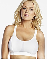 Naturally Close White Black Sports Bra