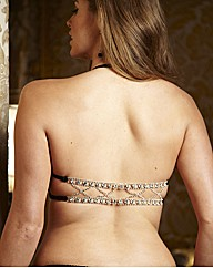 SplendourBlackMultiway Diamante Back Bra