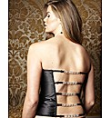 Splendour Black Diamante Back Basque