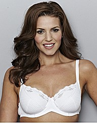 Shapely Figures White Full Cup Lilly Bra