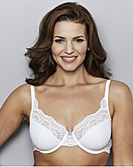 Shapely Figures White Full Cup Greta Bra