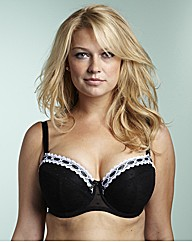 Simply Yours Black Ivory Balcony Bras