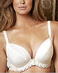 Splendour Satin Padded Plunge Bra