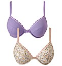 Simply Yours Pack of 2 Plunge Bras