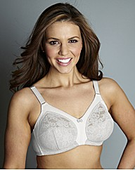White Non Wired Full Cup Dotty Bra