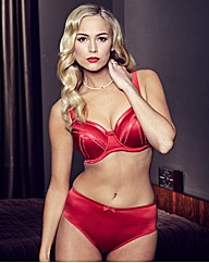 Splendour Underwired Red Balcony Bra