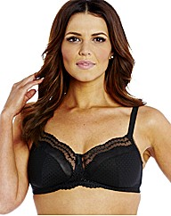 Shapely Figures Black Non Wired Bra