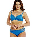Shapely Figures Teal Balcony Bra