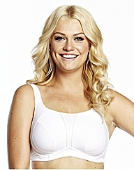 Naturally Close White Sports Bra