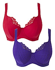 Shapely Figures Violet Pink Lucy Bras