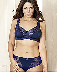 ShapelyFigures Navy Damson NonWired Bras