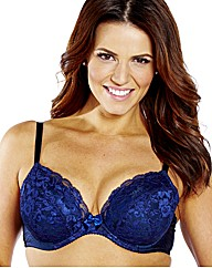 Shapely Figures Navy Damson Plunge Bras
