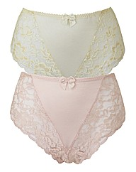 Shapely Figures Ivory Pink Knickers Pack