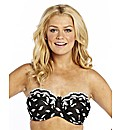 Ivory Black World Largest Strapless Bra