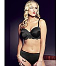 Splendour Black Satin Multiway Bra