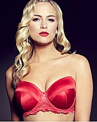 Splendour Red Satin Multiway Bra