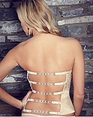 Splendour Gold Diamante Back Basque