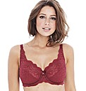 Playtex Cerise Flower Lace Bra