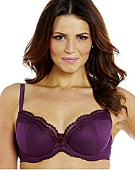 Shapely Figures Plum Balcony Bra
