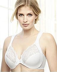 Elegance White Front Fastening Bra