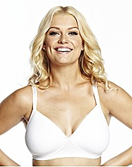 NaturallyClose White Moulded NonWire Bra