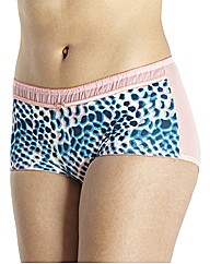 Simply Yours Pack of2 Print Plain Shorts